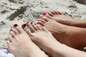 plaża stopy
